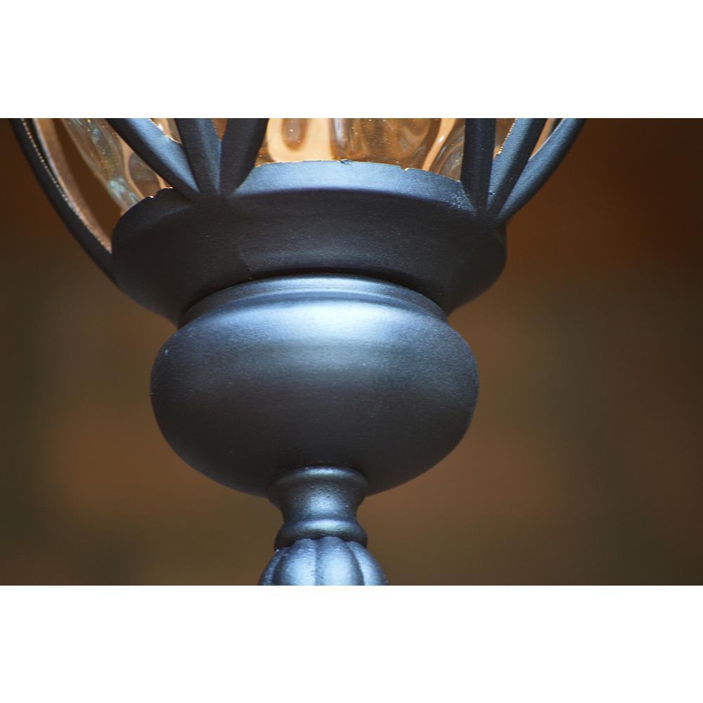 Hailee 1-Light Matte Black Outdoor Pendant Light