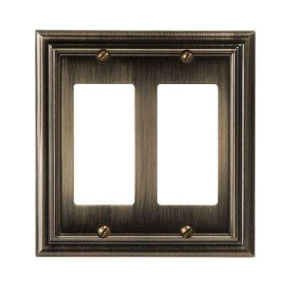 Continental 2 Decora Wall Plate - Brushed Brass