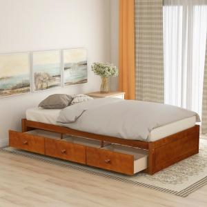 Deals on Harper & Bright Twin Platform Storage Bed w/3 Drawers