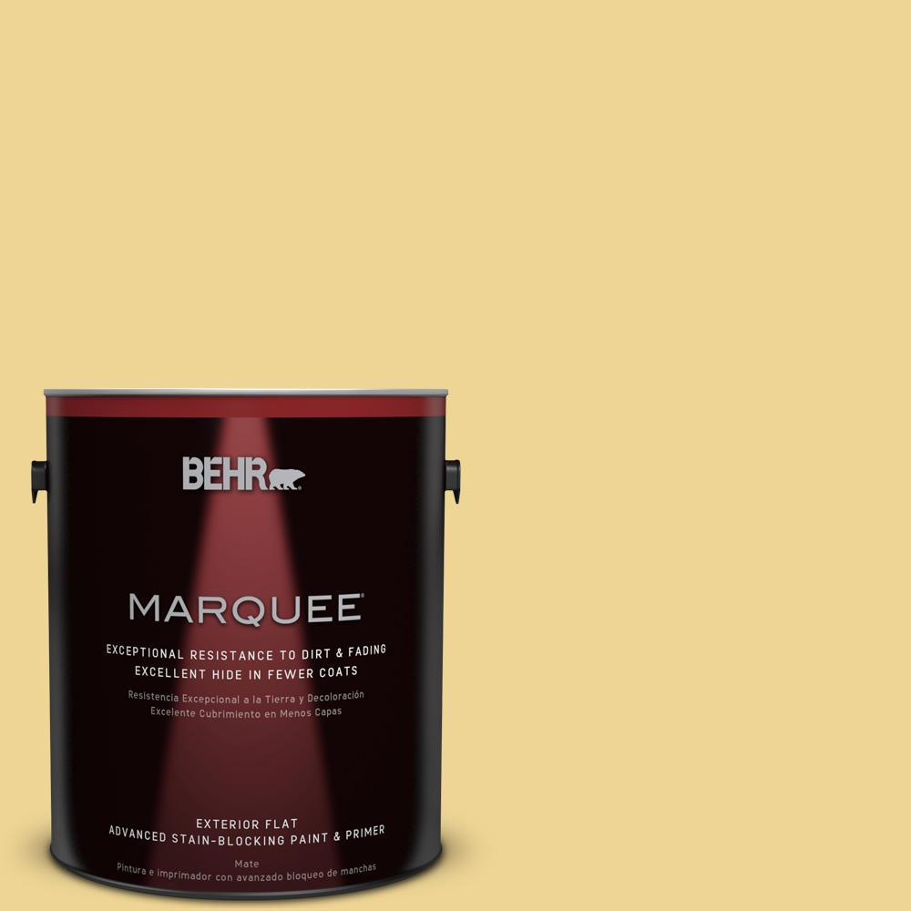 BEHR MARQUEE 1-gal. #370D-4 Mustard Seed Flat Exterior Paint