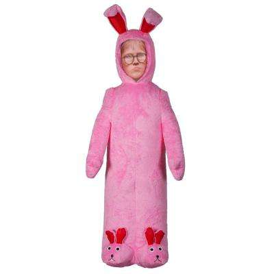 6 ft. Pre-lit Inflatable Ralphie with Pink Fuzzy Bunny Suit Airblown-WB