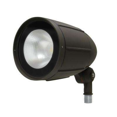 12-Watt Bronze Outdoor Integrated LED Landscape Weatherproof Bullet Flood Light