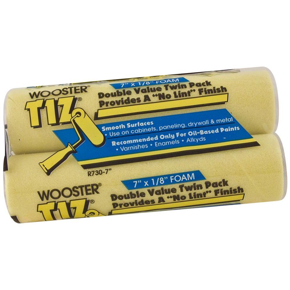 Wooster 7 In. X 1/8 In. Tiz Foam Roller Cover (2-Pack