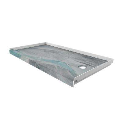 30 in. x 60 in. Single Threshold Shower Base with Right Hand Drain in Triton