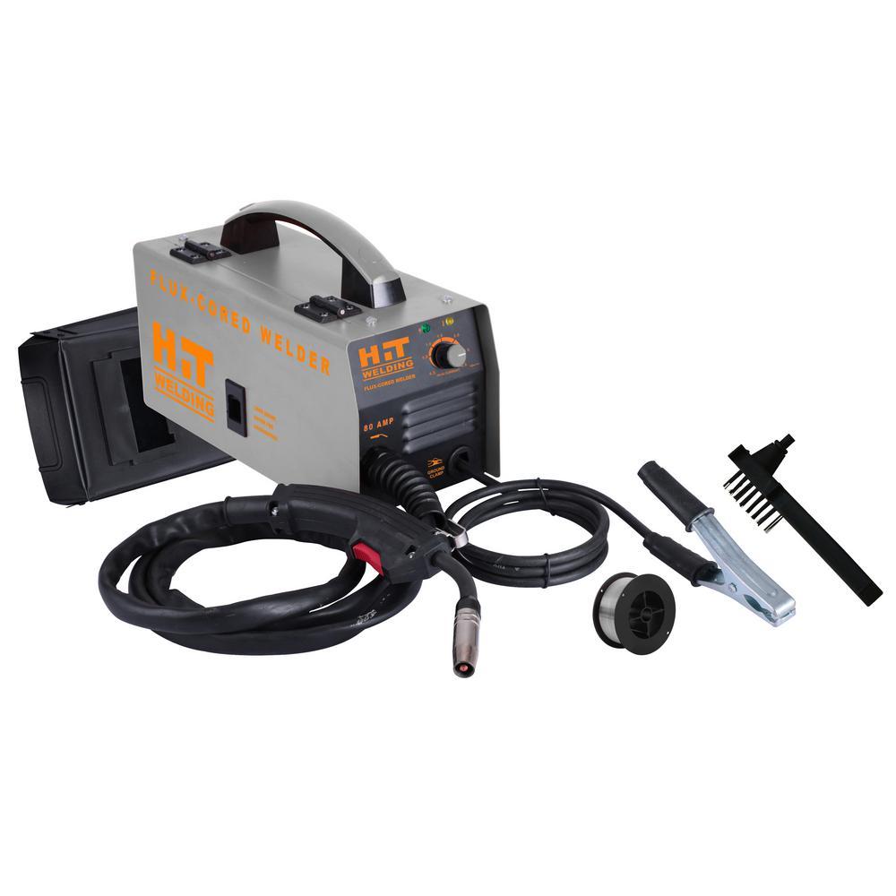 80 Amp 120-Volt Flux-Cored MIG Welder Kit