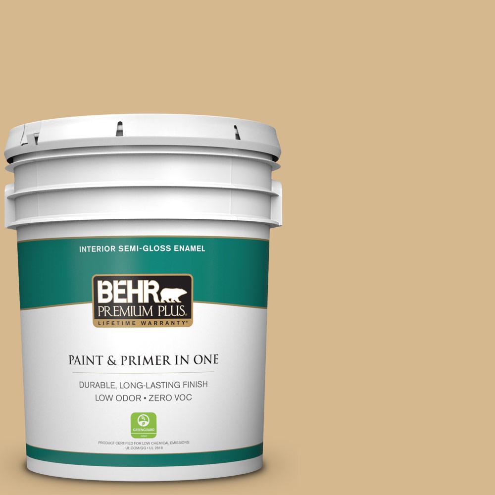 5-gal. #BXC-34 Mineral Yellow Semi-Gloss Enamel Interior Paint
