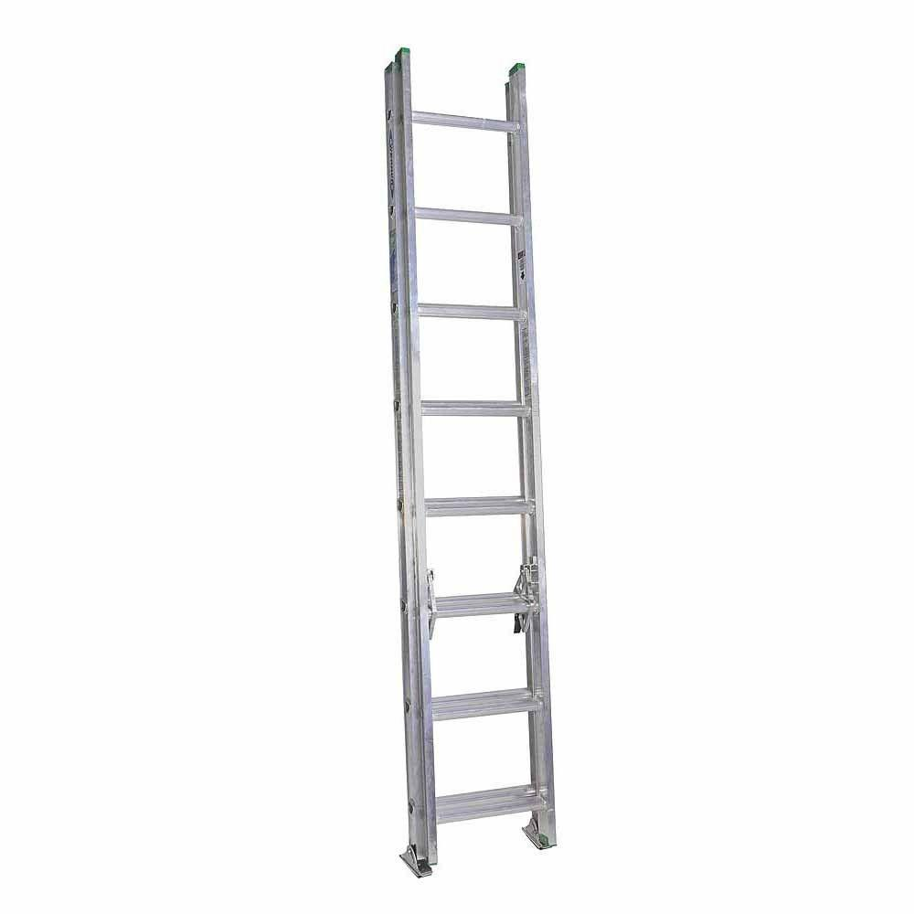 Werner 16 ft. Aluminum Extension Ladder with 225 lb. Load Capacity Type II Duty Rating
