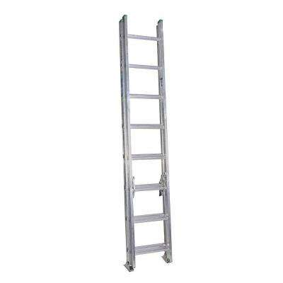 16 ft. Aluminum Extension Ladder with 225 lb. Load Capacity Type II Duty Rating