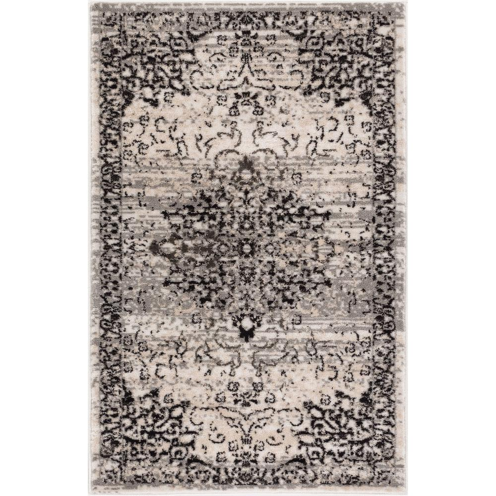 Well Woven New Age Sultana Grey 2 Ft X 4 Traditional Medallion Vintage