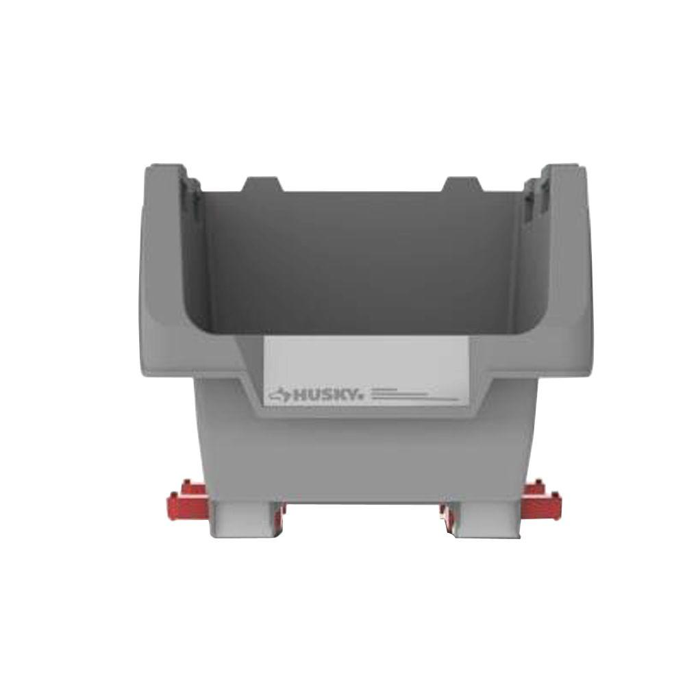 Husky 12 In Stackable Click Bin Gray 17193662 The Home