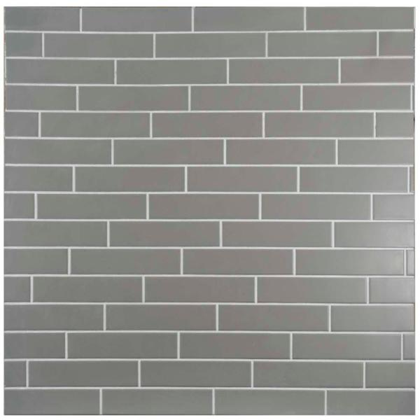 Metro Soho Matte Light Grey 1-3/4 in. x 7-3/4 in. Porcelain Floor and Wall Subway Tile (1 sq. ft. / pack)