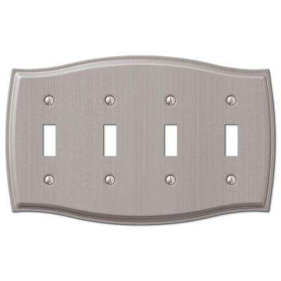Sonoma 4 Gang Wall Plate, Nickel