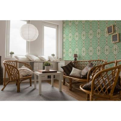 Nomad Collection Ottoman Jewel in Kelly Green Removable and Repositionable Wallpaper