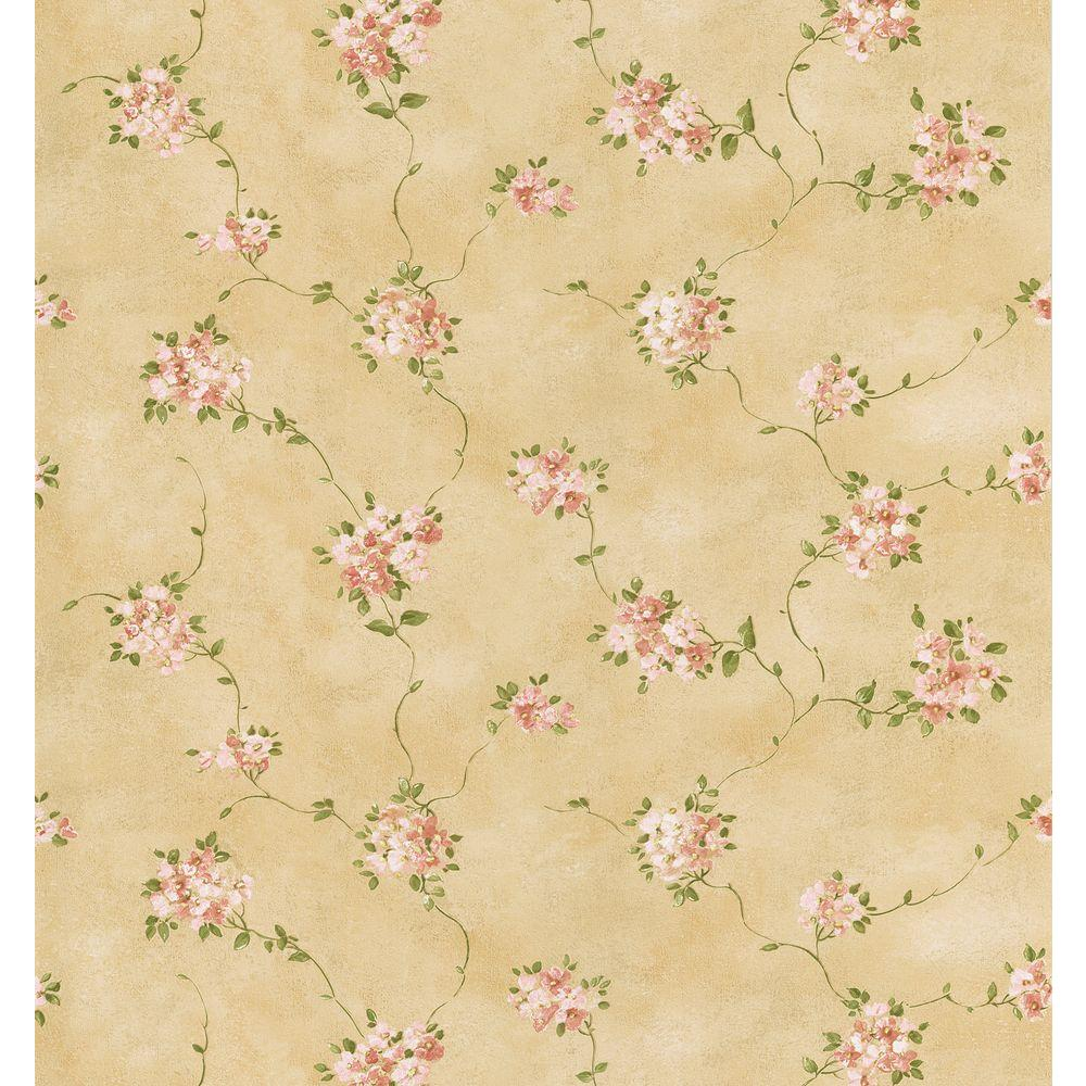 Brewster 8 in. W x 10 in. H Misty Floral Wallpaper Sample