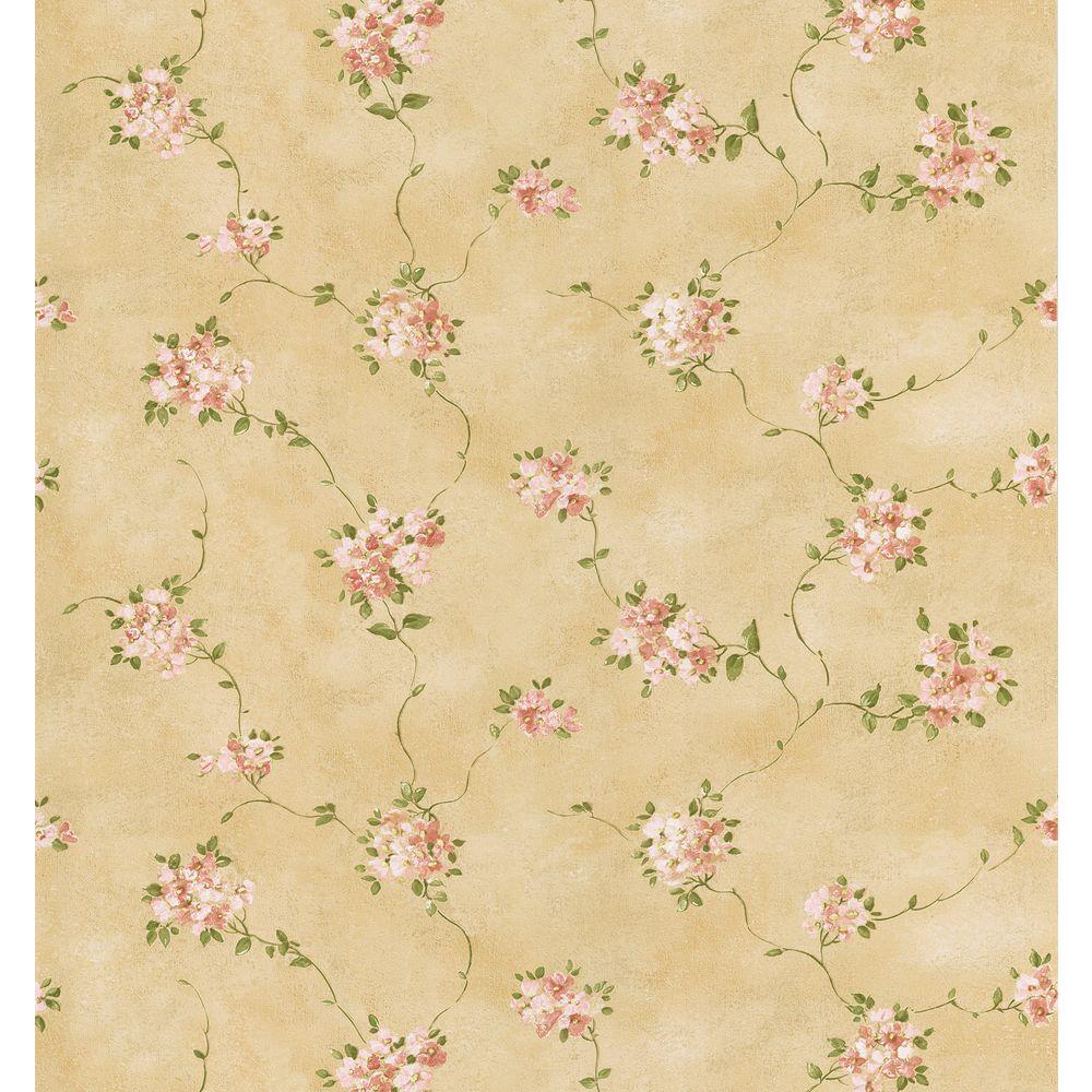 Brewster 8 in. W x 10 in. H Misty Floral Wallpaper Sample
