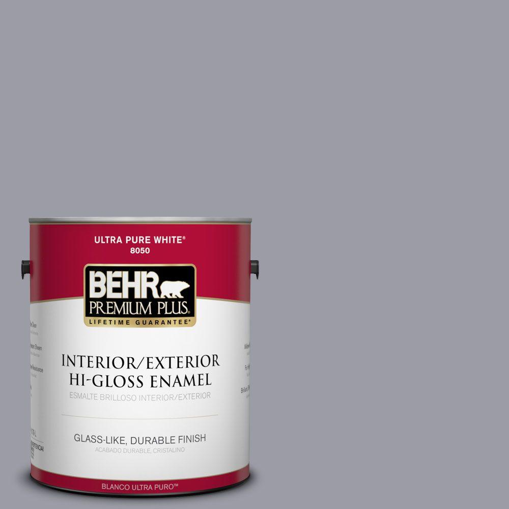 1-gal. #BNC-09 Heather Gray Hi-Gloss Enamel Interior/Exterior Paint