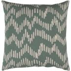 Calverley Green Graphic Polyester 18 in. x 18 in. Throw Pillow