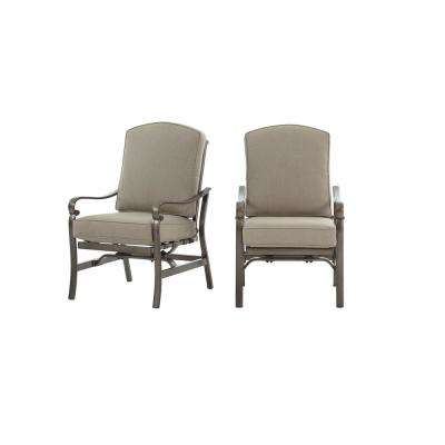 Home Decorators Collection Wilshire Estates Outdoor  Aluminum Sunbrella  Cushion Loung Chair in Gray (2-Pack)