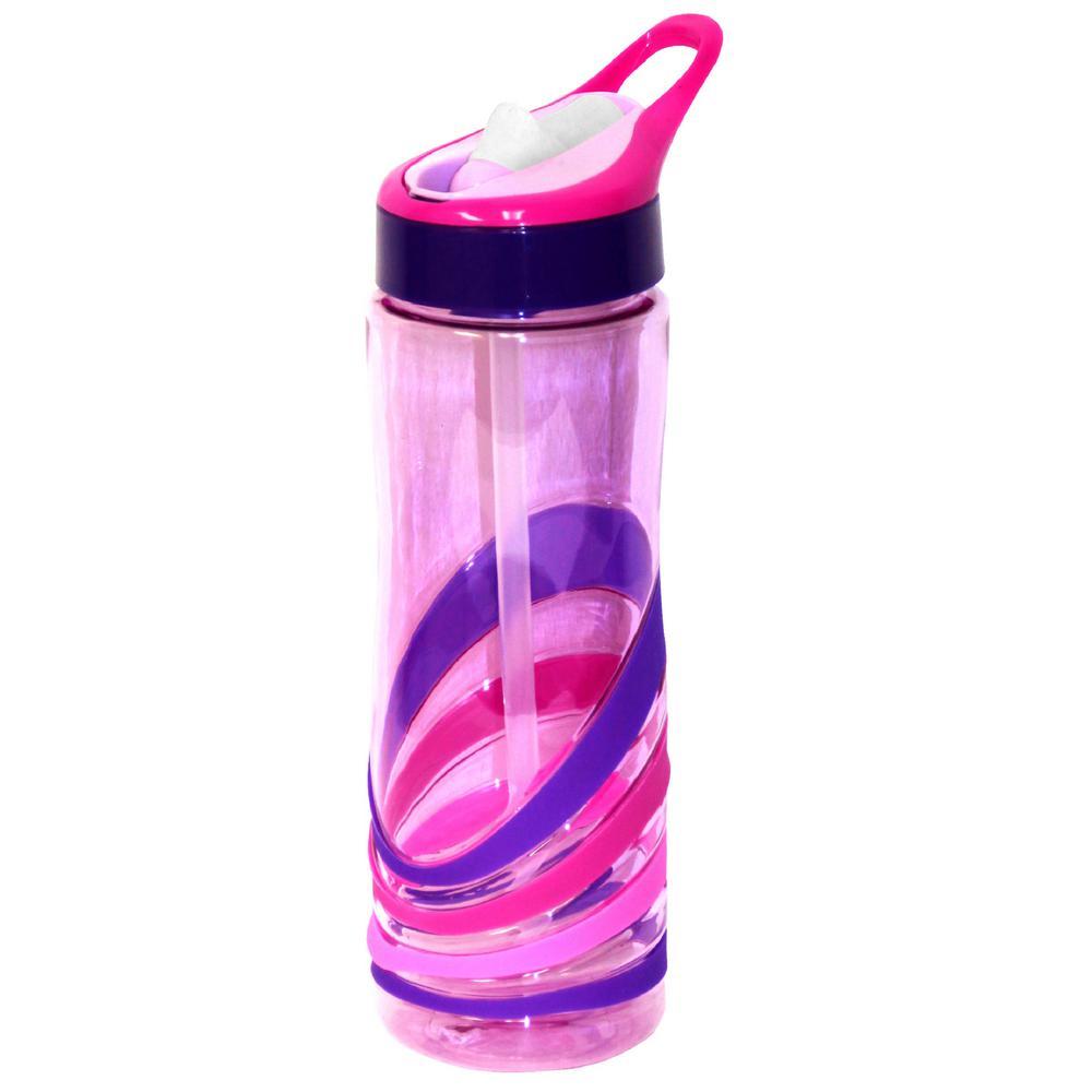 24 oz. Pink and Purple Plastic Tritan Hydration Bottle (6-Pack)
