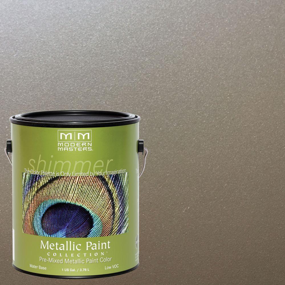 1 gal. Nickel Water-Based Satin Metallic Interior/Exterior Paint