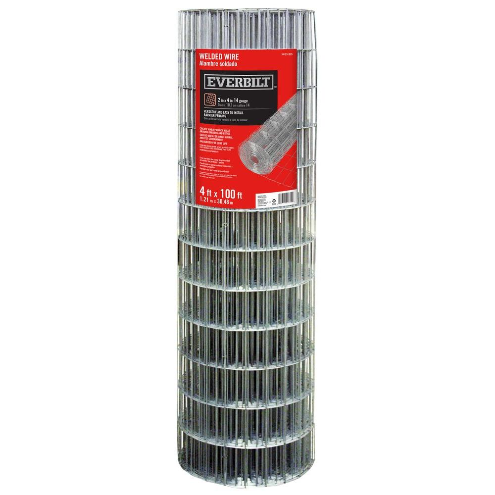 Everbilt 4 ft. x 100 ft. Steel Welded Wire-308312EB - The Home Depot