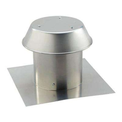 Aluminum Flat Roof Cap for 8 in. Round Duct
