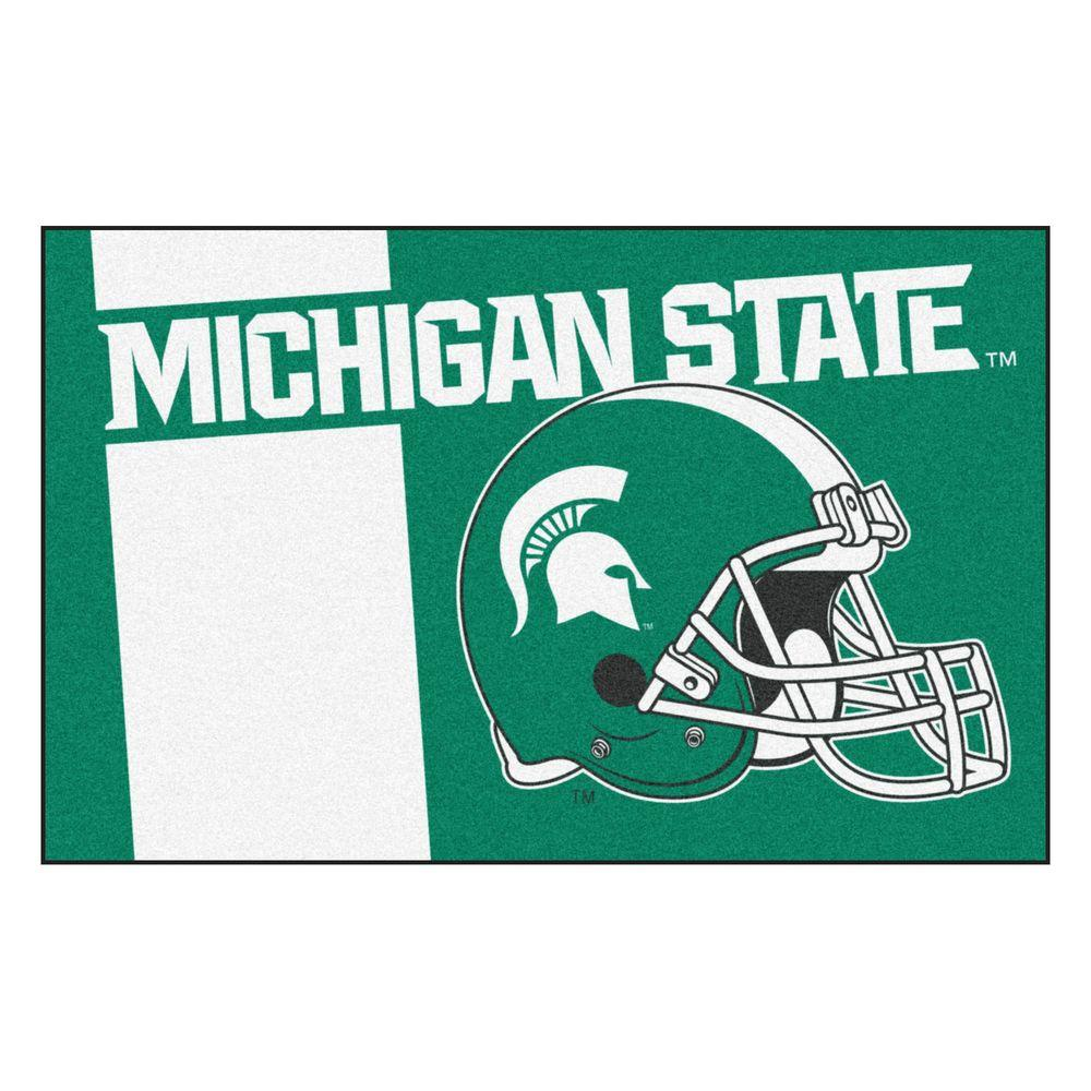Ncaa Michigan State University Green 1 ft. 7 in. x 2 ft. 6 in. Accent Rug