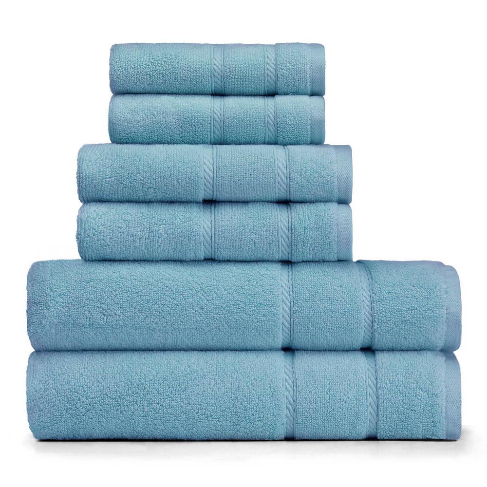 Belle Haven 6-Piece Towel Set in Turquoise- Aqua