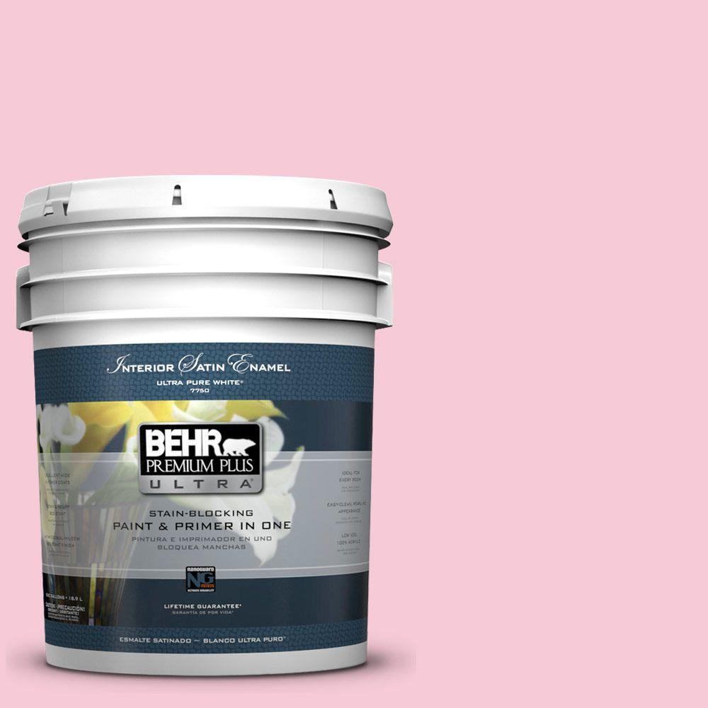 BEHR Premium Plus Ultra 5-gal. #110A-3 Palace Rose Satin Enamel Interior Paint