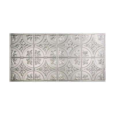 Traditional 2 - 2 ft. x 4 ft. Glue-up Ceiling Tile in Brushed Aluminum