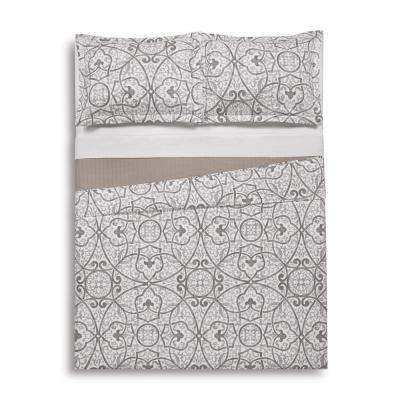 Marcello Grey Twin Extra Long Quilt Set