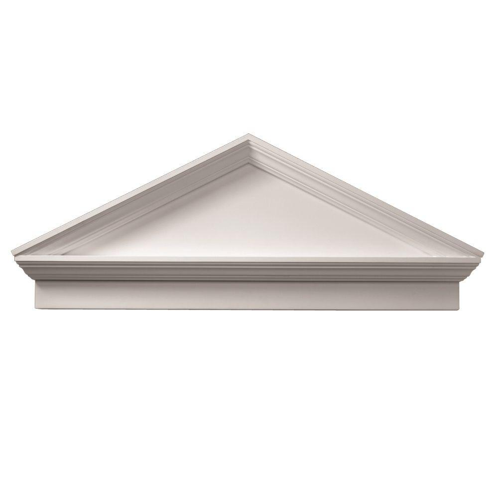 Fypon 3 1 8 in x 54 in 21 in polyurethane combination for Exterior door pediment and pilasters