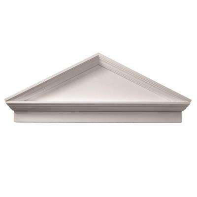 3-1/8 in. x 54 in. 21 in. Polyurethane Combination Peaked Cap Pediment