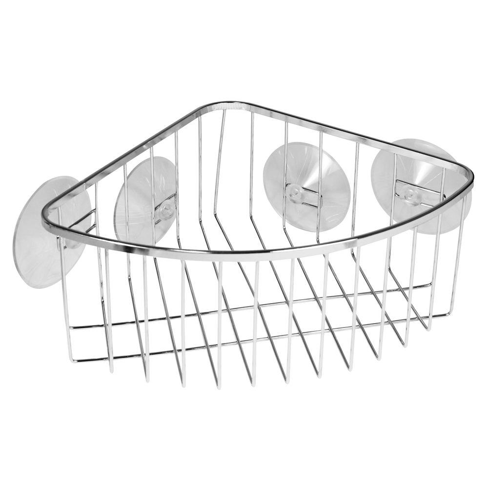 Suction Corner Shower Basket in Chrome