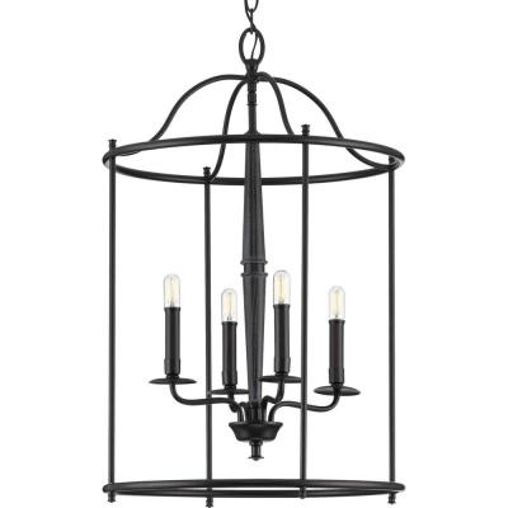 Durrell 4-Light Black Medium Foyer Pendant