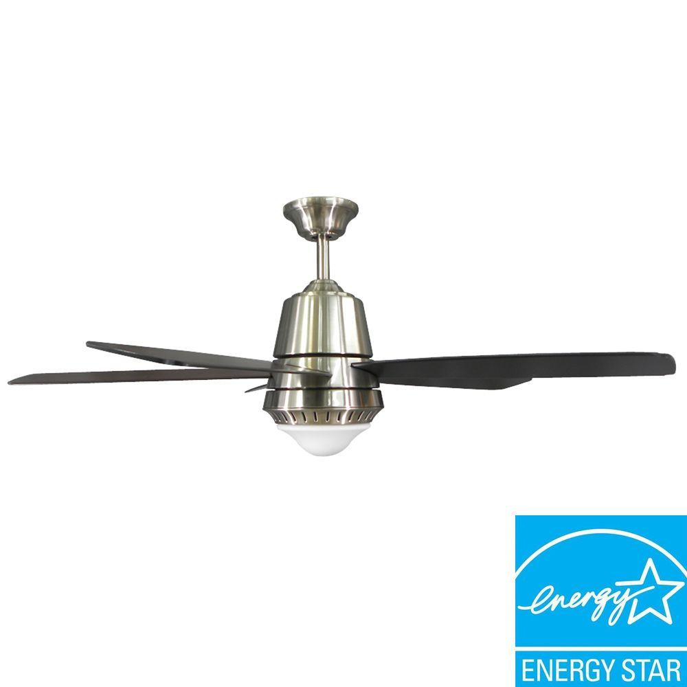Hampton Bay Argenta 52 in. Brushed Nickel Ceiling Fan