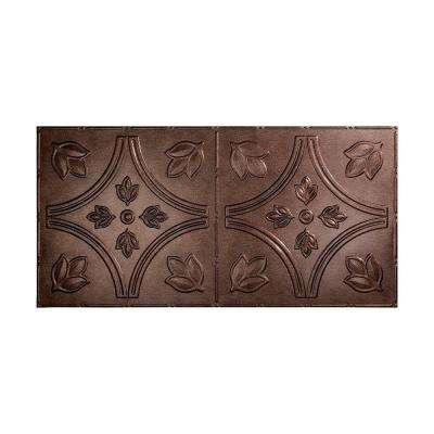 Traditional 5 - 2 ft. x 4 ft. Glue-up Ceiling Tile in Smoked Pewter
