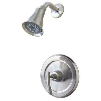Contemporary 1-Handle 1-Spray Shower Faucet in Brushed Nickel (Valve Not Included)