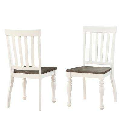 Joanna 2-Tone Ivory and Charcoal Side Chair (Set of 2)