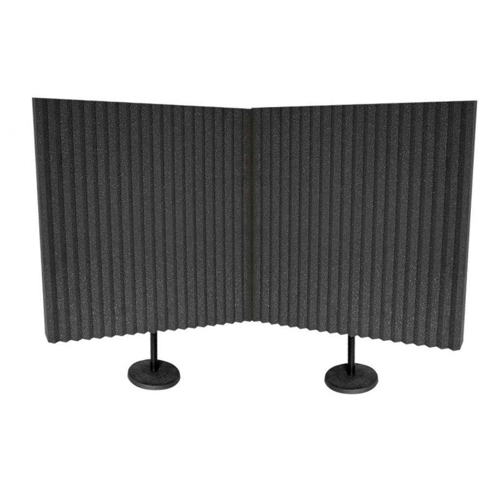 DeskMAX (2) 3 in. x 24 in. x 24 in. Acoustic Panel with 2 Desk Stand
