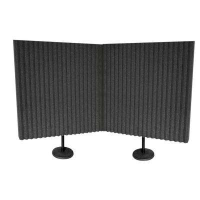 (2) 3 in. x 24 in. x 24 in. Acoustic Panel with 2 Desk Stand