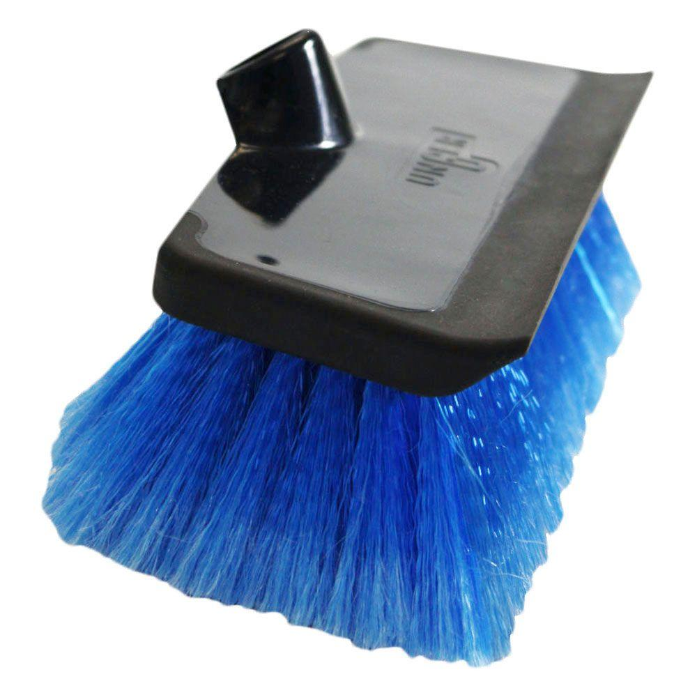 Unger 10 In Water Flow Scrub Brush With Heavy Duty Soft