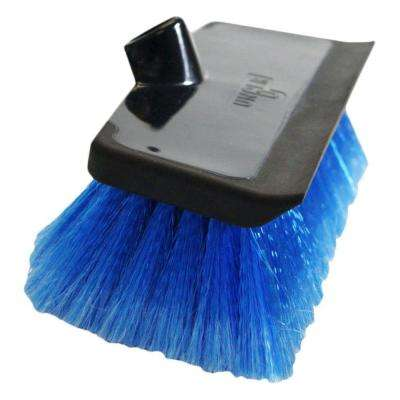 10 in. Water Flow Scrub Brush with Heavy Duty Soft Bristle Rubber Squeegee