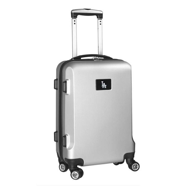 Denco MLB Los Angeles Dodgers Silver 21 in. Carry-On Hardcase Spinner Suitcase