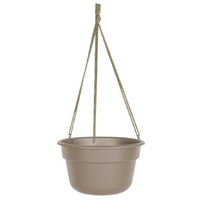 Dura Cotta 12 in. Pebble Stone Plastic Self Watering Hanging Basket Planter