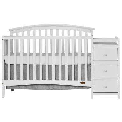 Niko White 5-In-1 Convertible Crib with Changer