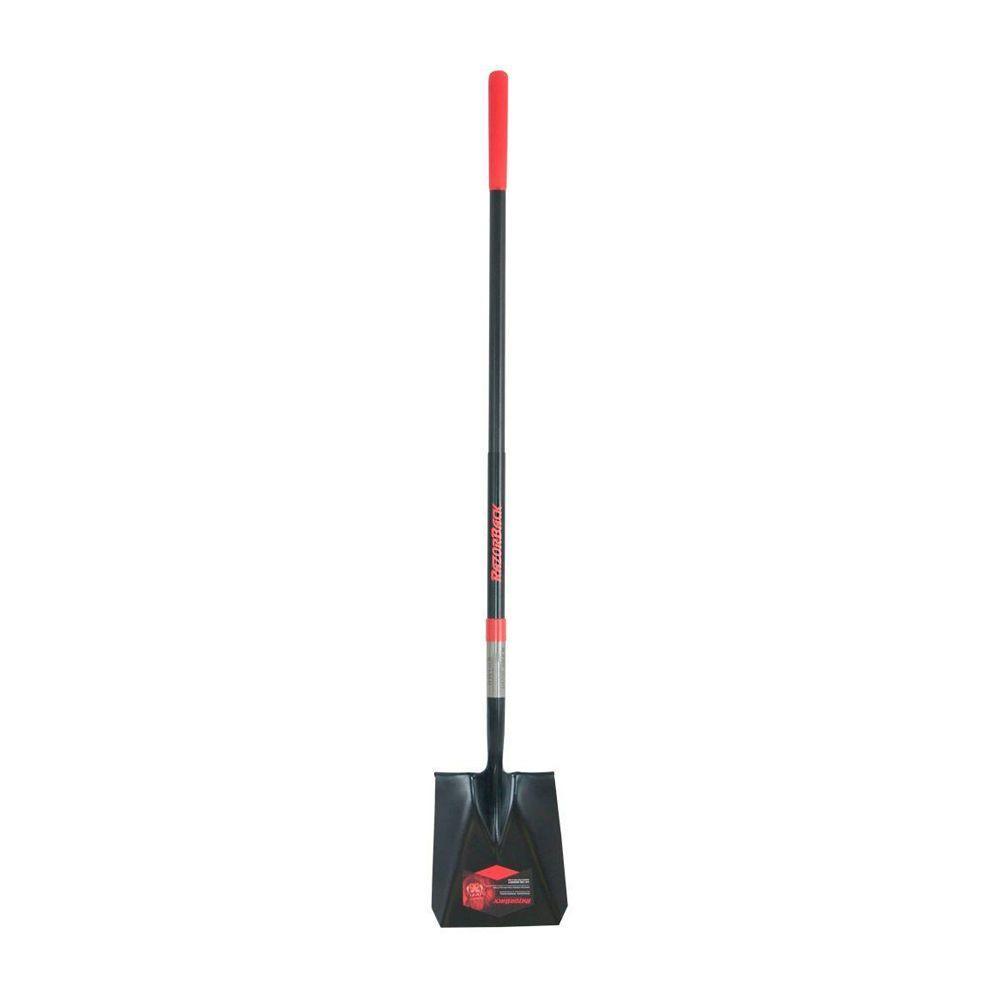 48.75 in. Fiberglass Handle Square Point Shovel