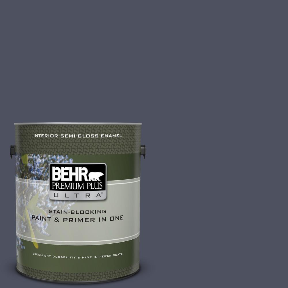 BEHR Premium Plus Ultra 1 gal  #S550-7 Knighthood Semi-Gloss Enamel  Interior Paint and Primer in One