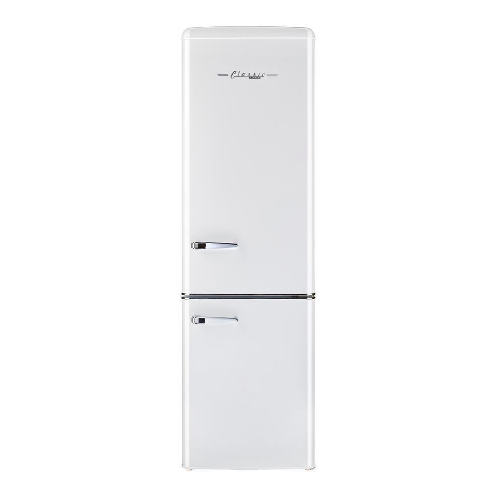 Unique 10 cu. ft. 275l Retro Bottom Mount Solar DC Refrigerator Danfoss/Secop Compressor in White