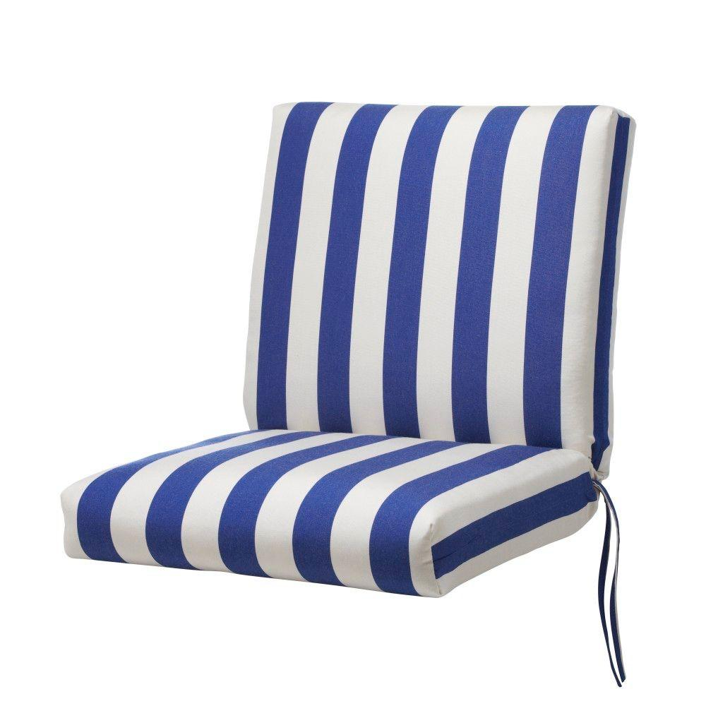 Home Decorators Collection Maxim Riviera Sunbrella Bull-Nose Outdoor Chair Seat And Back Cushion